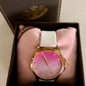 JUICY COUTURE PINK & LAVENDER OMBRÉ BLING WATCH